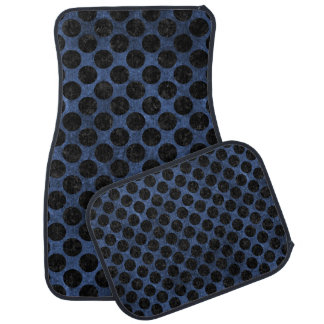 CIRCLES2 BLACK MARBLE & BLUE STONE (R) CAR MAT