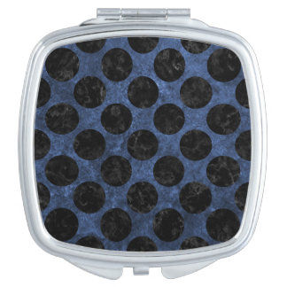 CIRCLES2 BLACK MARBLE & BLUE STONE (R) COMPACT MIRRORS