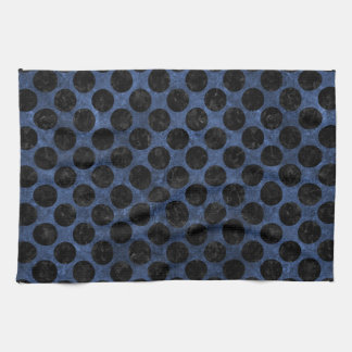CIRCLES2 BLACK MARBLE & BLUE STONE (R) KITCHEN TOWEL