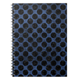 CIRCLES2 BLACK MARBLE & BLUE STONE (R) NOTEBOOKS