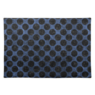 CIRCLES2 BLACK MARBLE & BLUE STONE (R) PLACEMAT