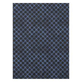 CIRCLES2 BLACK MARBLE & BLUE STONE (R) TABLECLOTH
