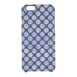 CIRCLES2 BLACK MARBLE & BLUE WATERCOLOR CLEAR iPhone 6/6S CASE