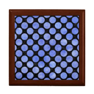 CIRCLES2 BLACK MARBLE & BLUE WATERCOLOR GIFT BOX
