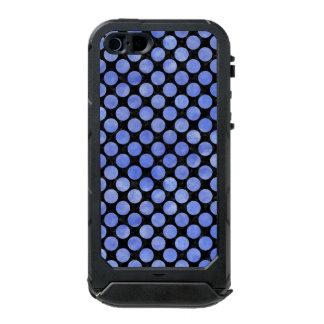 CIRCLES2 BLACK MARBLE & BLUE WATERCOLOR INCIPIO ATLAS ID™ iPhone 5 CASE