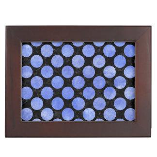 CIRCLES2 BLACK MARBLE & BLUE WATERCOLOR KEEPSAKE BOX