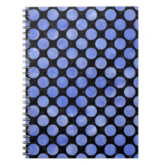 CIRCLES2 BLACK MARBLE & BLUE WATERCOLOR NOTEBOOKS