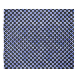 CIRCLES2 BLACK MARBLE & BLUE WATERCOLOR (R) DUVET COVER