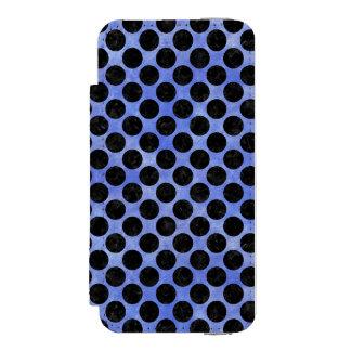 CIRCLES2 BLACK MARBLE & BLUE WATERCOLOR (R) INCIPIO WATSON™ iPhone 5 WALLET CASE