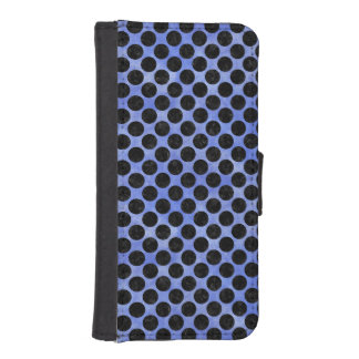 CIRCLES2 BLACK MARBLE & BLUE WATERCOLOR (R) iPhone SE/5/5s WALLET CASE