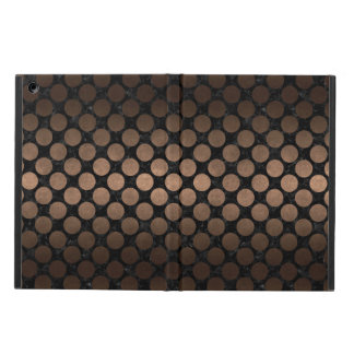 CIRCLES2 BLACK MARBLE & BRONZE METAL COVER FOR iPad AIR