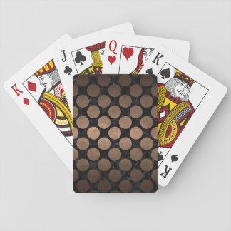 CIRCLES2 BLACK MARBLE & BRONZE METAL PLAYING CARDS