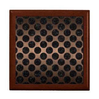 CIRCLES2 BLACK MARBLE & BRONZE METAL (R) GIFT BOX