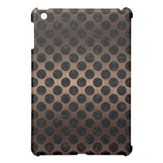 CIRCLES2 BLACK MARBLE & BRONZE METAL (R) iPad MINI CASES