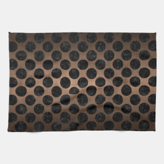 CIRCLES2 BLACK MARBLE & BRONZE METAL (R) KITCHEN TOWEL