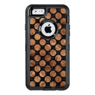 CIRCLES2 BLACK MARBLE & BROWN STONE OtterBox DEFENDER iPhone CASE