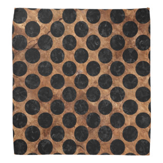 CIRCLES2 BLACK MARBLE & BROWN STONE (R) BANDANA