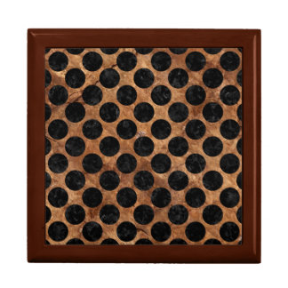 CIRCLES2 BLACK MARBLE & BROWN STONE (R) GIFT BOX