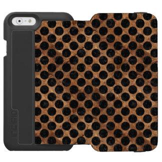 CIRCLES2 BLACK MARBLE & BROWN STONE (R) INCIPIO WATSON™ iPhone 6 WALLET CASE