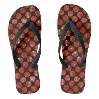 CIRCLES2 BLACK MARBLE & RED MARBLE FLIP FLOPS