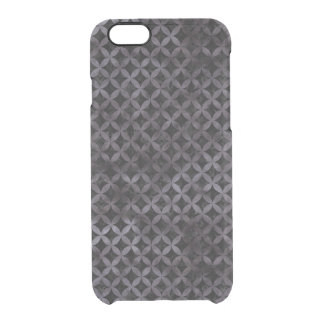 CIRCLES3 BLACK MARBLE & BLACK WATERCOLOR CLEAR iPhone 6/6S CASE