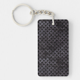 CIRCLES3 BLACK MARBLE & BLACK WATERCOLOR KEYCHAIN