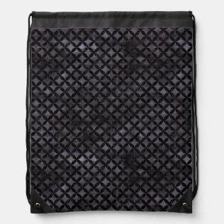CIRCLES3 BLACK MARBLE & BLACK WATERCOLOR (R) DRAWSTRING BAG