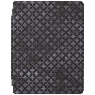 CIRCLES3 BLACK MARBLE & BLACK WATERCOLOR (R) iPad COVER