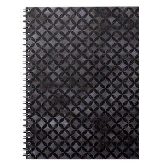 CIRCLES3 BLACK MARBLE & BLACK WATERCOLOR (R) NOTEBOOKS