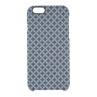 CIRCLES3 BLACK MARBLE & BLUE DENIM CLEAR iPhone 6/6S CASE