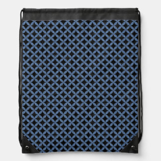 CIRCLES3 BLACK MARBLE & BLUE DENIM DRAWSTRING BAG