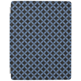 CIRCLES3 BLACK MARBLE & BLUE DENIM iPad COVER