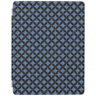 CIRCLES3 BLACK MARBLE & BLUE DENIM (R) iPad COVER
