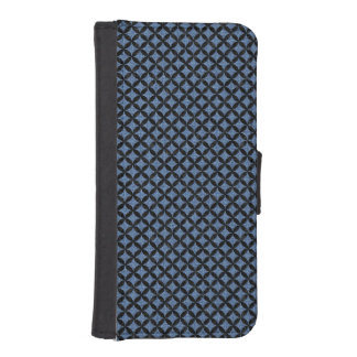 CIRCLES3 BLACK MARBLE & BLUE DENIM (R) iPhone SE/5/5s WALLET CASE
