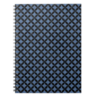 CIRCLES3 BLACK MARBLE & BLUE DENIM (R) NOTEBOOK