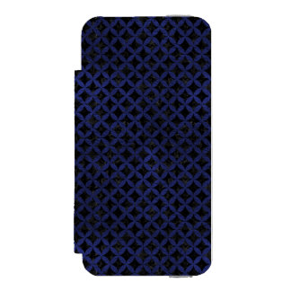 CIRCLES3 BLACK MARBLE & BLUE LEATHER INCIPIO WATSON™ iPhone 5 WALLET CASE