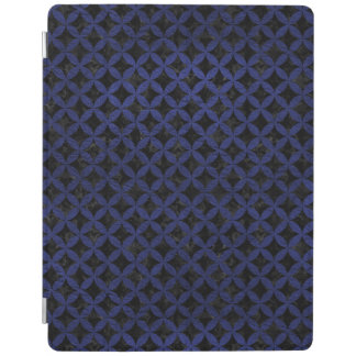 CIRCLES3 BLACK MARBLE & BLUE LEATHER iPad COVER
