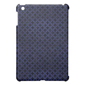 CIRCLES3 BLACK MARBLE & BLUE LEATHER iPad MINI COVER