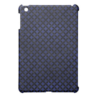 CIRCLES3 BLACK MARBLE & BLUE LEATHER (R) COVER FOR THE iPad MINI