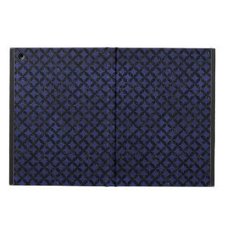 CIRCLES3 BLACK MARBLE & BLUE LEATHER (R) iPad AIR CASE