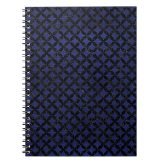 CIRCLES3 BLACK MARBLE & BLUE LEATHER (R) NOTEBOOK