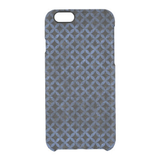 CIRCLES3 BLACK MARBLE & BLUE STONE CLEAR iPhone 6/6S CASE