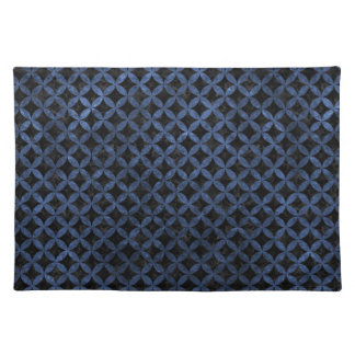 CIRCLES3 BLACK MARBLE & BLUE STONE PLACEMAT