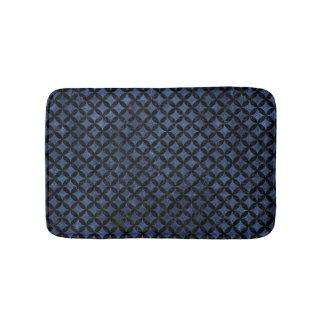 CIRCLES3 BLACK MARBLE & BLUE STONE (R) BATH MAT