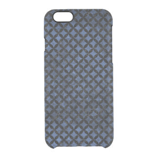 CIRCLES3 BLACK MARBLE & BLUE STONE (R) CLEAR iPhone 6/6S CASE