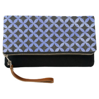 CIRCLES3 BLACK MARBLE & BLUE WATERCOLOR CLUTCH