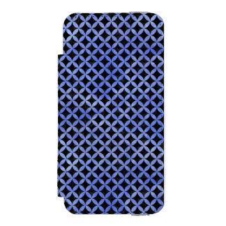 CIRCLES3 BLACK MARBLE & BLUE WATERCOLOR INCIPIO WATSON™ iPhone 5 WALLET CASE