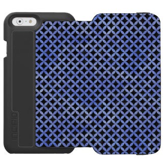 CIRCLES3 BLACK MARBLE & BLUE WATERCOLOR INCIPIO WATSON™ iPhone 6 WALLET CASE