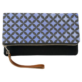 CIRCLES3 BLACK MARBLE & BLUE WATERCOLOR (R) CLUTCH