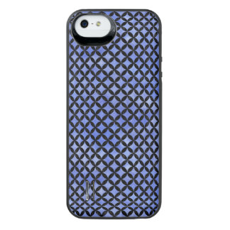 CIRCLES3 BLACK MARBLE & BLUE WATERCOLOR (R) iPhone SE/5/5s BATTERY CASE